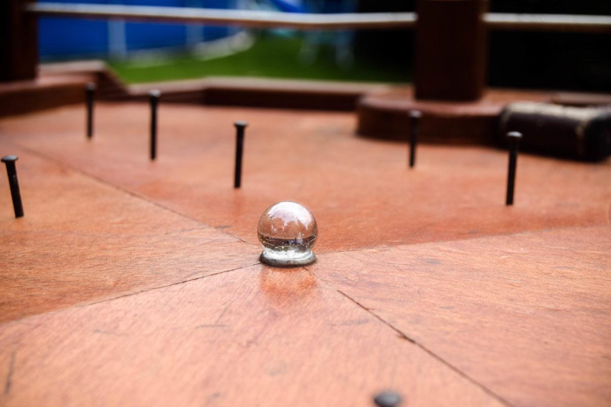 Hamerspel knikker - oud Hollands spel
