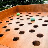 Ballenrolspel gaten – oud Hollandse spelletjes